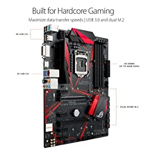 ASUS ROG STRIX B250H GAMING LGA1151 DDR4 HDMI DVI M.2 ATX Motherboard with USB 3.1