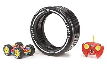 Little tikes - Tire Twister -Voiture avec un son pneu - Radiocommandé - Noir/Rouge/Bleu