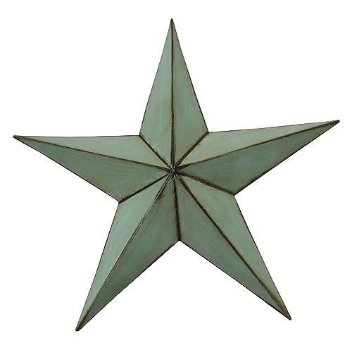 Wall Art Barn Stars-size- 18 X 18.5 X 4- (Antiqued Green)