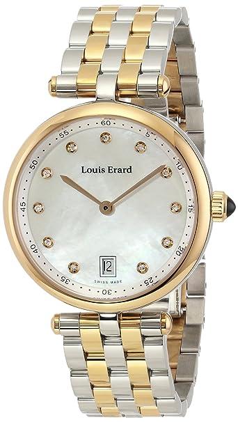 "Louis Erard Women's 11810AB24.BMA27 ""Romance"" Analog Display Quartz Silver Casual Watch"