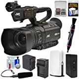 JVC GY-HM180U Ultra 4K HD 4KCAM Professional Camcorder & Top Handle Audio Unit + XLR Microphone + SlingStudio Hub Unit & CameraLink + Battery/Charger Kit