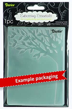 Darice 1216-62 Embossing Folder, 4.25 by 5.75-Inch, Scroll Background (Color: Scroll Background, Tamaño: 1 Pack)