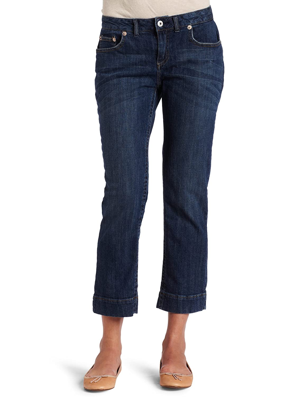 Dickies Women's 26 Inch Slim Denim Crop Pant, Stonewash/Hand Sanding, 12 from $6.33