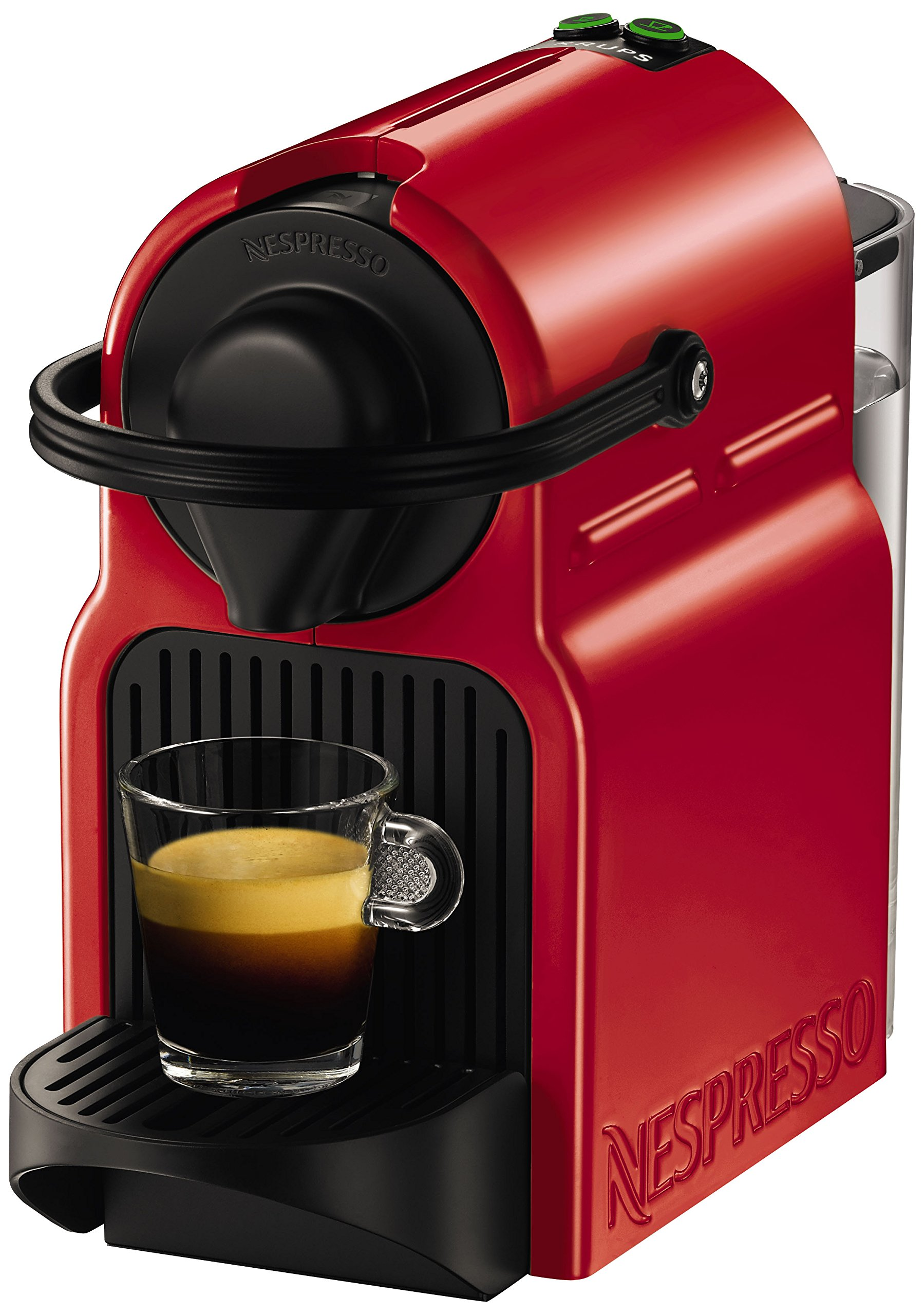 nespresso by krups inissia coffee capsule machine 1260 watt ruby red. Black Bedroom Furniture Sets. Home Design Ideas