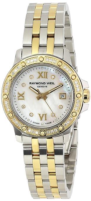 """Raymond Weil Women's 5399-SPS-00995 """"Tango"""" Stainless Steel Two-Tone Dress Watch with Diamonds"""