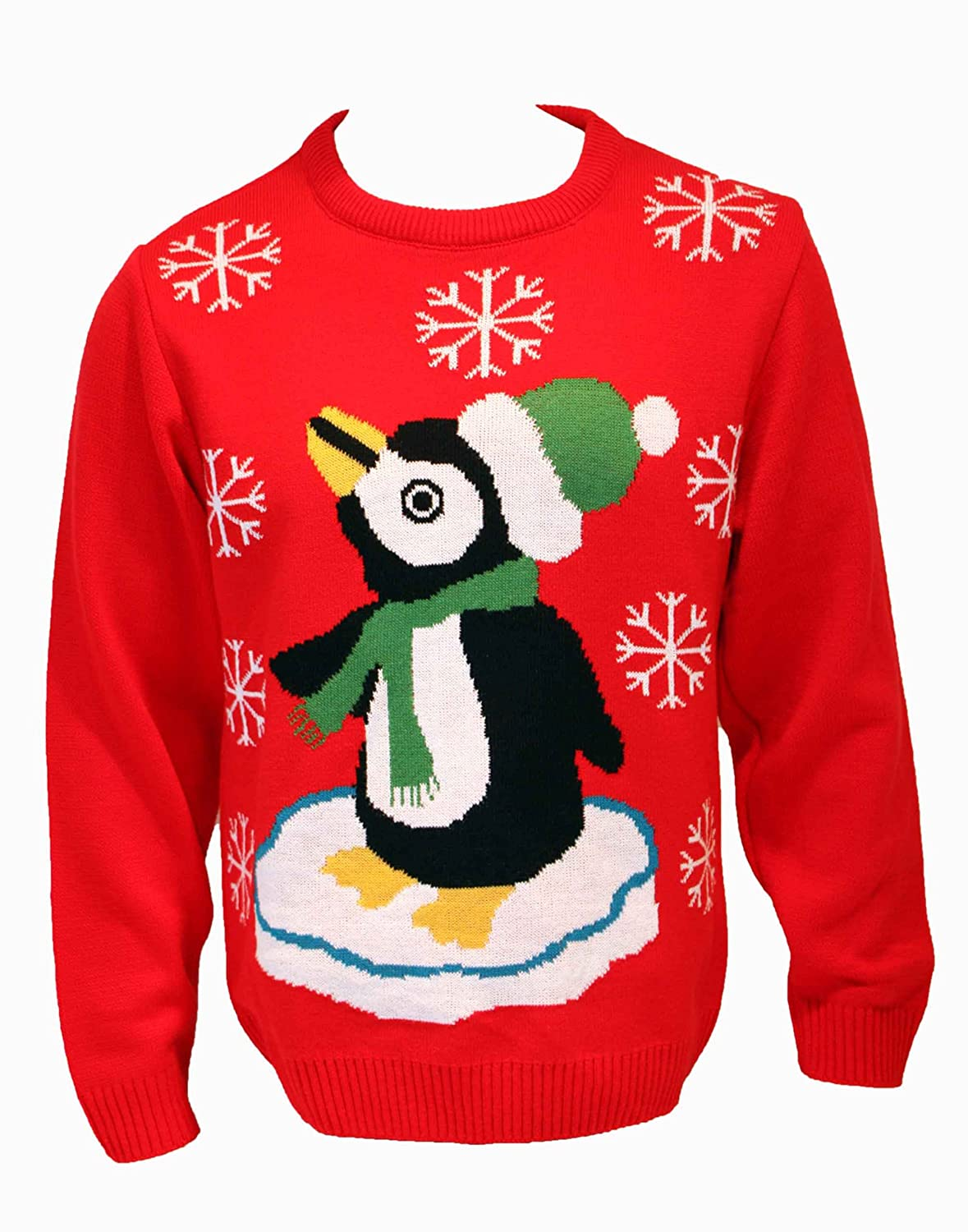 Unisex Penguin Knitted Christmas Jumper