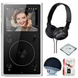 FiiO X1 2nd Gen (Silver), mp3 Player - High Resolution Lossless, Portable, Bluetooth Music Player + MicroSD Card + Headphone & Speaker (Color: Silver)