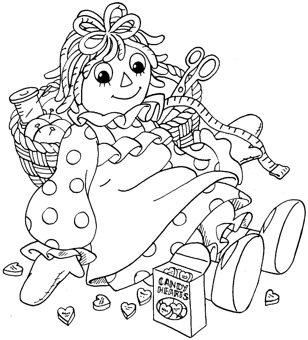 raggedy ann coloring pages - antique raggedy ann coloring page coloring pages