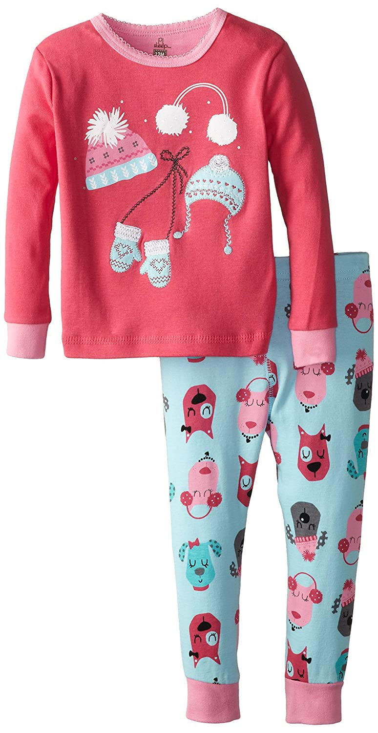 Petit Lem Baby Girls' Chic Dogs Hat 2 Piece Pant Sleep Set
