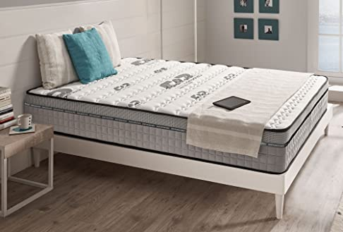 Materasso VISCO CARBONE 180 x 200 cm 25 cm schiuma di lattice Blue Latex® + Aero latex® e memory foam BIO MEMORY®. 7 zone differenziata, anallergico. ALTA QUALITÀ di Naturalex, antistatica