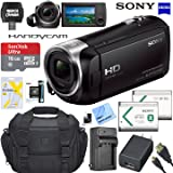 Sony HDRCX405 HD Video Recording Handycam Camcorder Bundle with Micro SD Memory Card Spare Battery Charger High Speed HDMI Cable and More (Tamaño: 16GB Bundle)