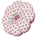 NEOVIVA Pincushions for Sewing with Wristband, Cute Wrist Pin Cushion for Daily Needlework, Style Pumpkin, Pack of 2, Polka Dots Dry Rose (Color: Polka Dots Dry Rose)
