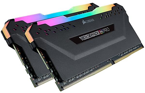 Corsair Vengeance RGB Pro 32GB (2x16GB) DDR4 3200 (PC4-25600) C16 AMD Optimized Memory - Black (Color: Black, Tamaño: 32 Gb)