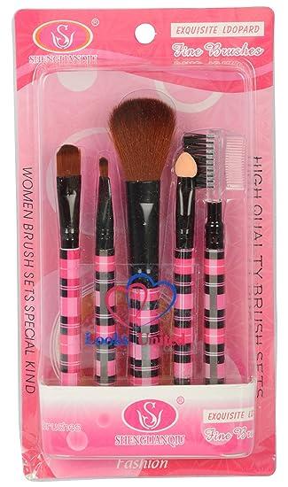 Looks United 5 Pcs High Quality Makeup Brush Set: Amazon.in: Beauty