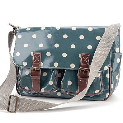 Oilcloth Polka Dots Crossbody Saddle Bag Satchel Shoulder Messenger 37