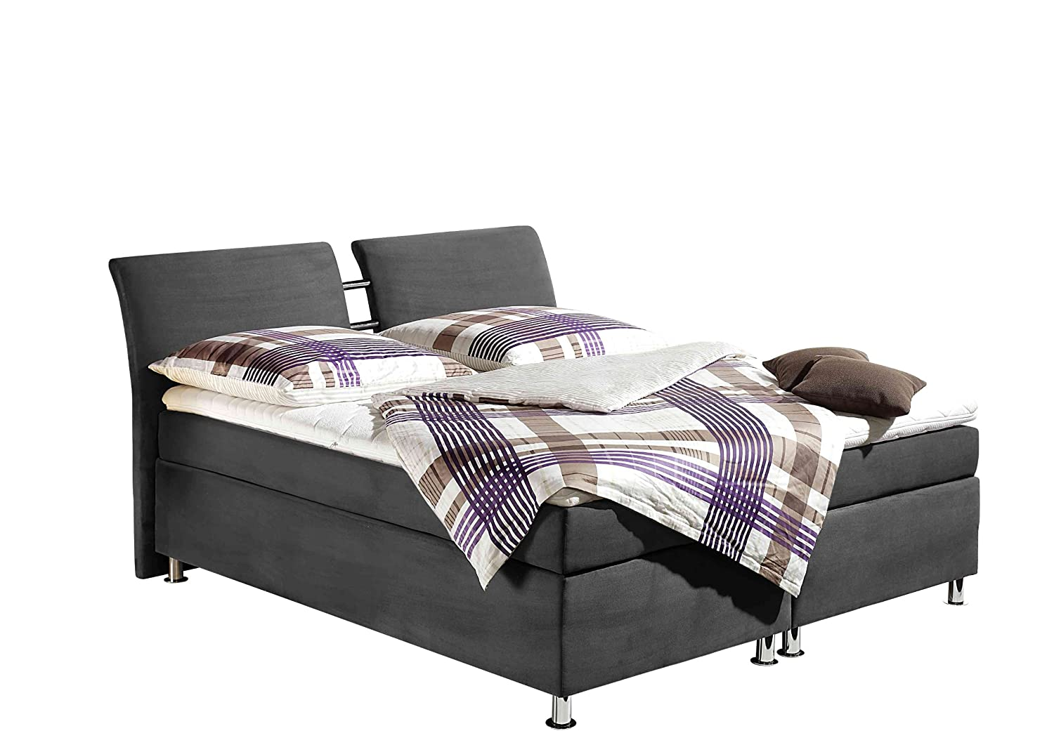Maintal Betten 235852-4103 Boxspringbett Dean 140 x 200 cm, grau