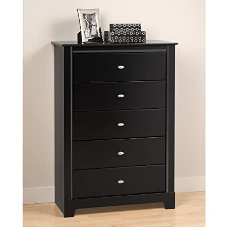 Prepac Black Kallisto 5 Drawer Chest