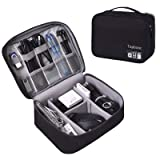 Universal Electronics Accessories Organizer, Waterproof Portable Cable Organizer Bag,Travel Gear Carry Bag for Cables (L, Fancy-Black) (Color: fancy-Black, Tamaño: L)