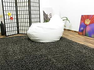 Shaggy Hochflor Teppich Funny Langflor Teppich in anthrazit mit ÖkoTex Siegel, Größe 240x340 cm   Kritiken und weitere Infos