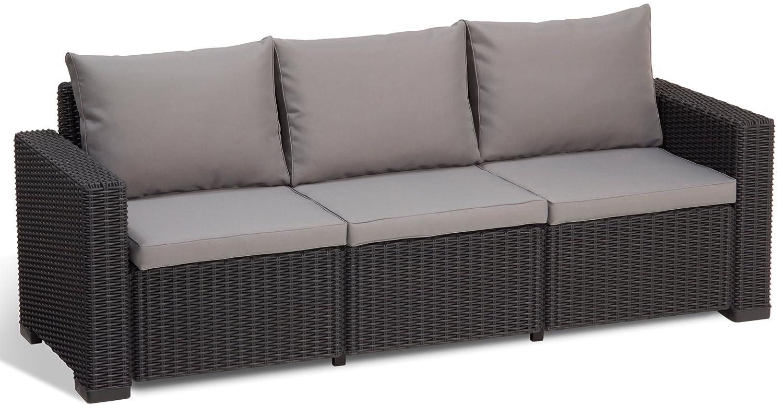 Allibert Lounge Sofa California, Grau, 3-Sitzer jetzt bestellen