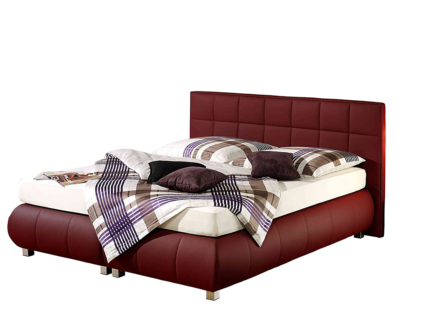 Maintal Betten 234200-4793 Boxspringbett Elias 180 x 200 cm, bordeaux