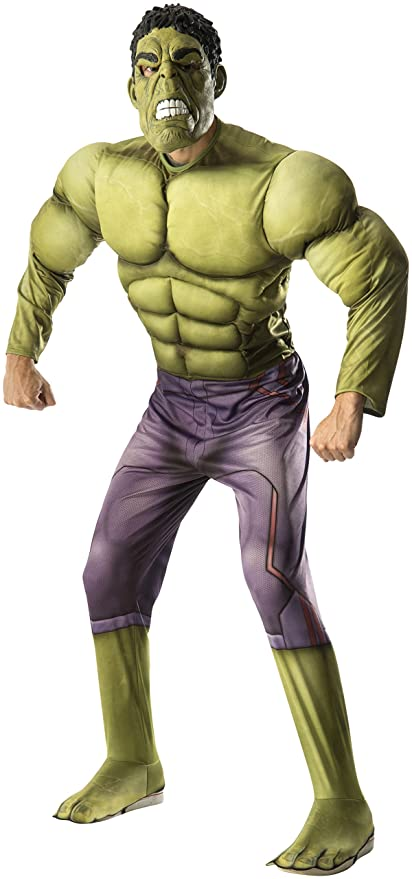 Ace Halloween Adult Men's the Avengers Deluxe Muscle Hulk Costumes