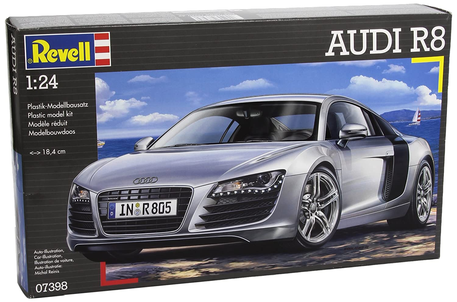 revell 7398 maquette de voiture audi r8 ebay. Black Bedroom Furniture Sets. Home Design Ideas