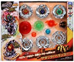 Takaratomy Beyblades #BBG 24 Japanese Zero G Beyblade Ultimate DX Set Thin Chrome Attack / Balance Type