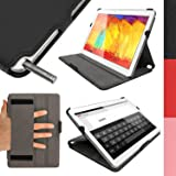 iGadgitz Premium Executive Black PU Leather Case Cover for Samsung Galaxy Note 10.1