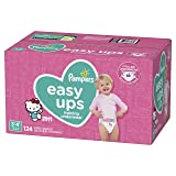 Pampers Easy Ups Pull On Disposable Potty Training Underwear for Girls, Size 5 (3T-4T), 124 Count (Color: Pink, Tamaño: 3T-4T)