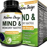 Super Potent & Natural Brain, Memory & Mind Booster ? Nootropic Mind Supplement Natural Power Boost for Day and Night! Increase Function ? Works Fast for Women and Men ? USA Made By Natures Design