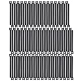 Pasow 100pcs Reusable Fastening Adjustable Cable Ties Wire Management (8 Inch, Black) (Color: Black, Tamaño: 8 Inch)