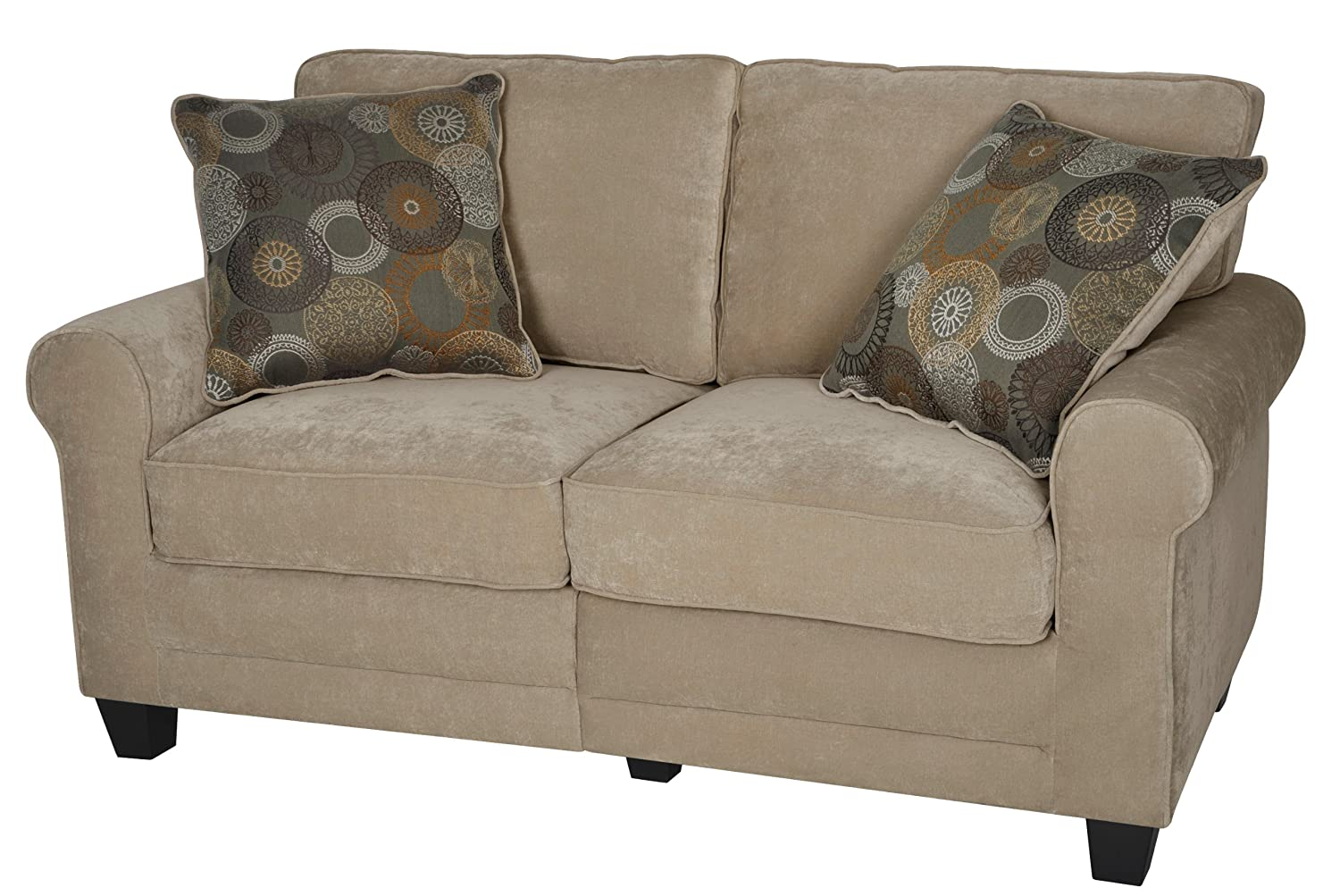 Serta® RTA Copenhagen Collection 61 Loveseat in Marzipan - CR43531PB