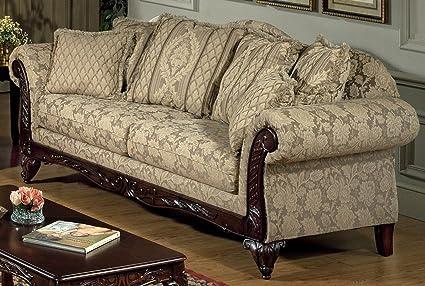 Chelsea Home Furniture Serta Kelsey Sofa, Base Upholstered in Clarissa Carmel
