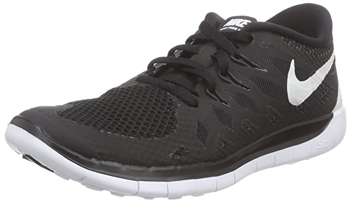 Nike Kids Free 5 (PS) Black/White/Anthracite Running Shoe 1 Kids