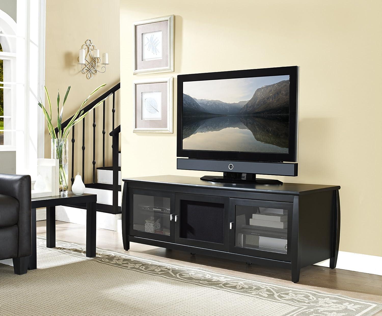 TechCraft SWBL48 48-Inch Wide Flat Panel TV Credenza - Black
