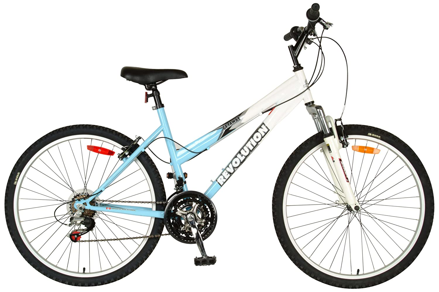 Revolution Women's Getaway Mountain Bike (Light Blue / White, 26-Inch)