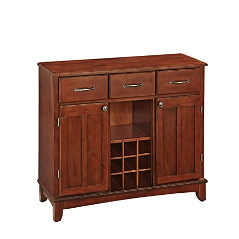 Home Styles 5100-0072 Buffet of Buffets Medium Cherry Wood with Server, Cherry Finish, 41-3/4-Inch
