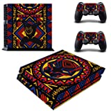 Decal Moments Regular PS4 Console Set Vinyl Skin Decal Stickers Protective for PS4 Playstaion 2 Controllers Panther