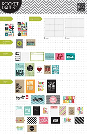 me & my BIG ideas Pocket Pages Scrapbook Page Kit, Family Time, 12-Inch by 12-Inch (?wo ?ack) (Tamaño: ?wo ?ack)