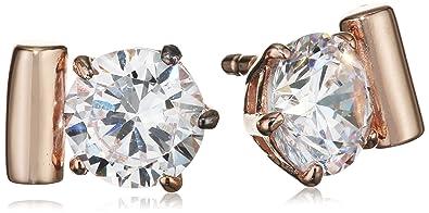 Joop Women's Stud Earrings 925 Sterling Silver / White Zirconia-Jper90312C000