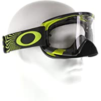 Oakley Mens O2 MX Goggles in White/Clear