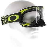 Oakley Mens O2 MX Goggles in White/Clear