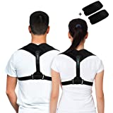 Premium Back Support Brace & Posture Corrector for Men & Women, an Ultimate Solution for Kyphosis, Shoulder Support, High Back & Neck Pain Relief, With a BONUS of Underarm Pads by BRANFIT.