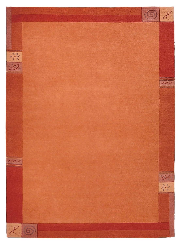 """TEPPICHWELT SONA-LUX Nepal Teppich handgeknüpft terracotta """"Größe auswählen"""" 250 x 300 cm"""