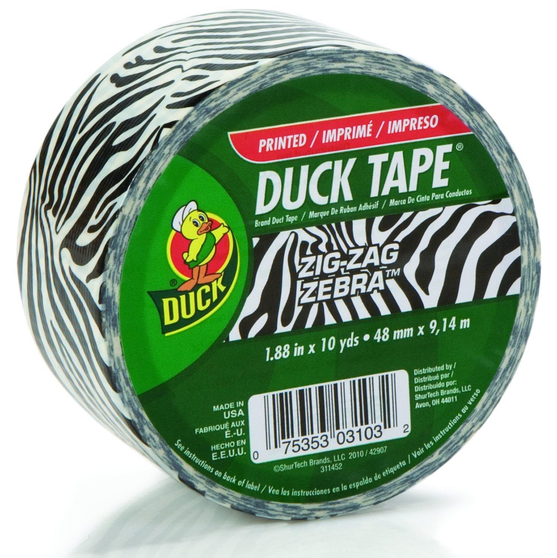 Pretty Zebra Duck Tape