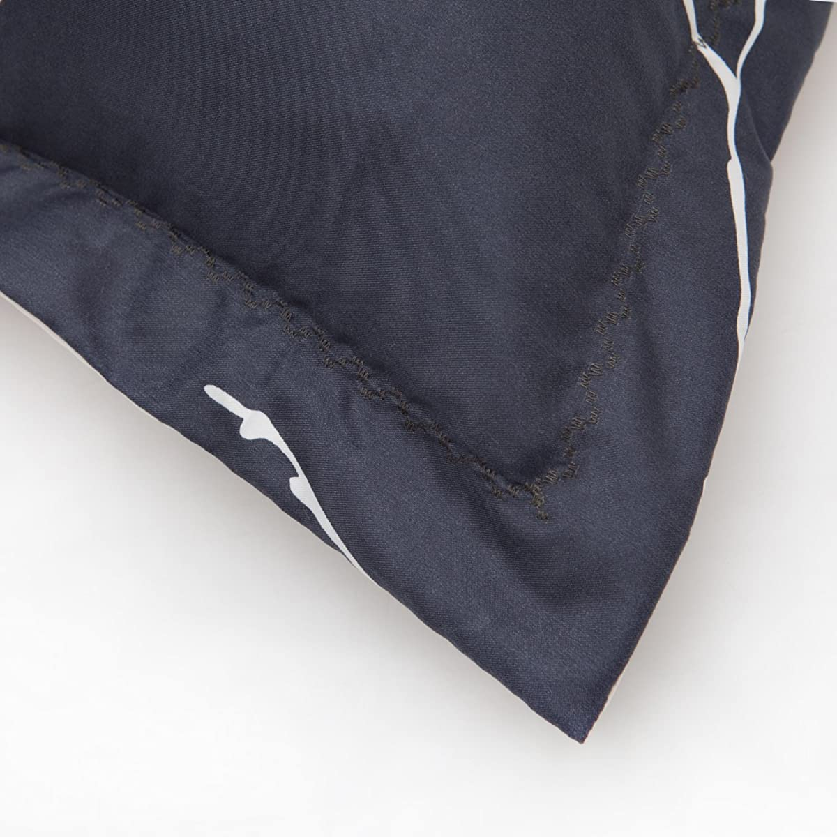 Bedsure 3 Piece Duvet Cover Set (1 Duvet Cover + 2 Pillow Shams) Printed Duvet Cover Queen Set with Ultra-Soft Microfiber Navy