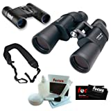 Bushnell 10x50 Perma-Focus Binoculars & Bushnell Powerview 8x21 Binoculars Kit