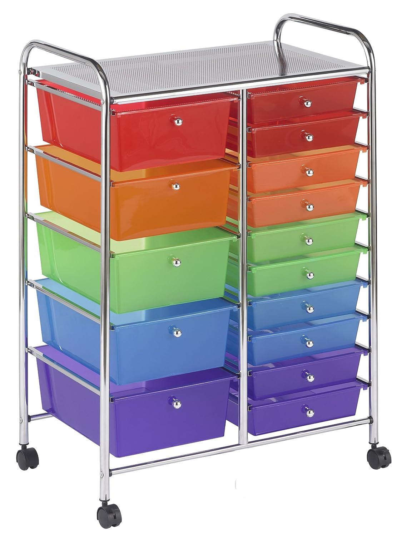 Drawer Rolling Mobile Storage Organizer Cart File Tools Cabinet School Office 763960500316 | eBay