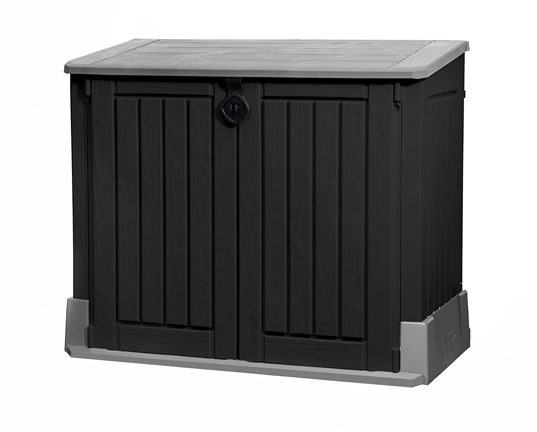 Keter Mülltonnenbox Store it Out Midi, Schwarz, 845L günstig online kaufen